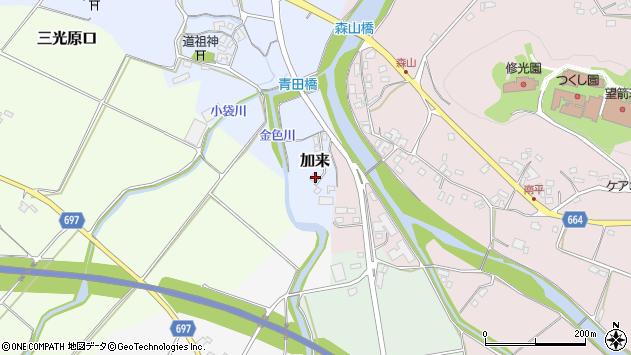 大分県中津市加来1650周辺の地図