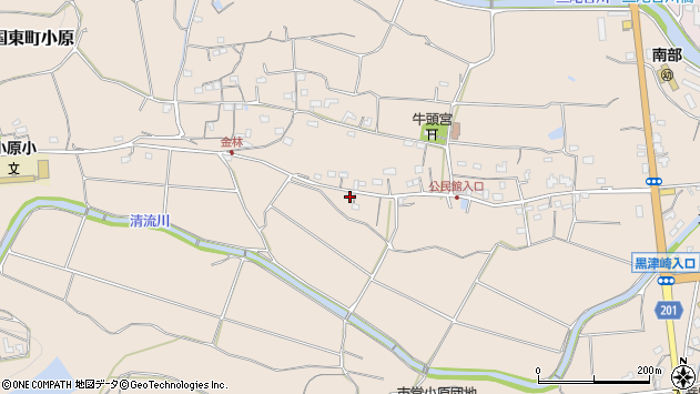 大分県国東市国東町小原1112周辺の地図