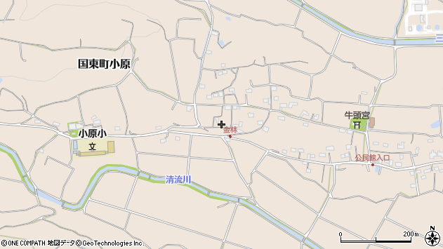 大分県国東市国東町小原1142周辺の地図