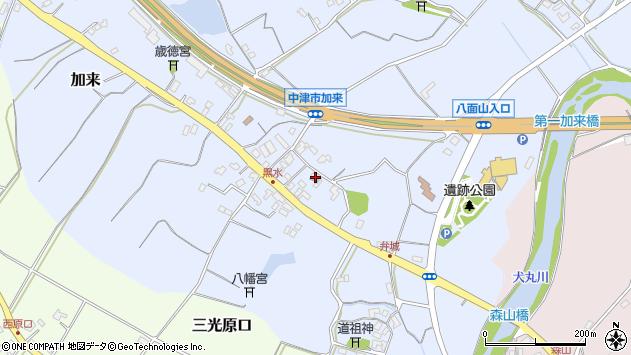 大分県中津市加来1505周辺の地図