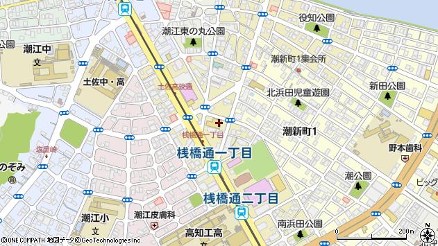 高知県高知市桟橋通1丁目周辺の地図