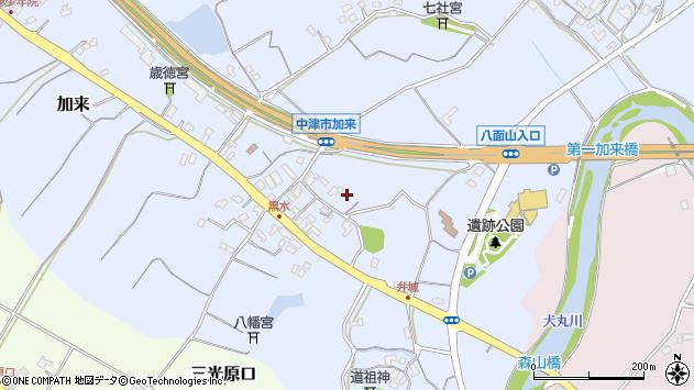 大分県中津市加来1427周辺の地図