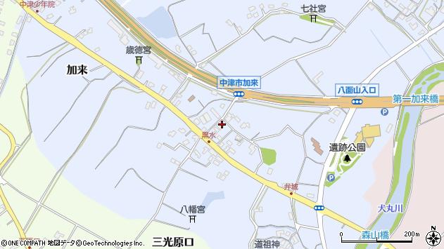 大分県中津市加来1506周辺の地図