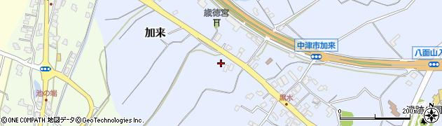 大分県中津市加来1957周辺の地図
