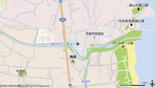 大分県国東市国東町鶴川1612周辺の地図