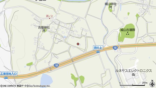 大分県中津市伊藤田384周辺の地図