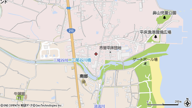 大分県国東市国東町鶴川1604周辺の地図