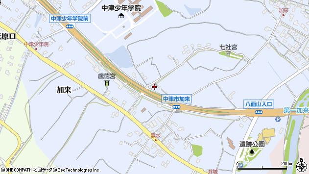 大分県中津市加来1334周辺の地図