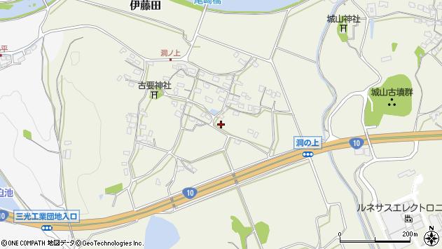 大分県中津市伊藤田374周辺の地図