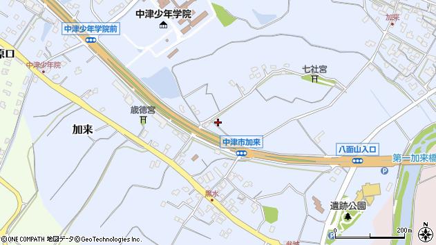 大分県中津市加来1346周辺の地図