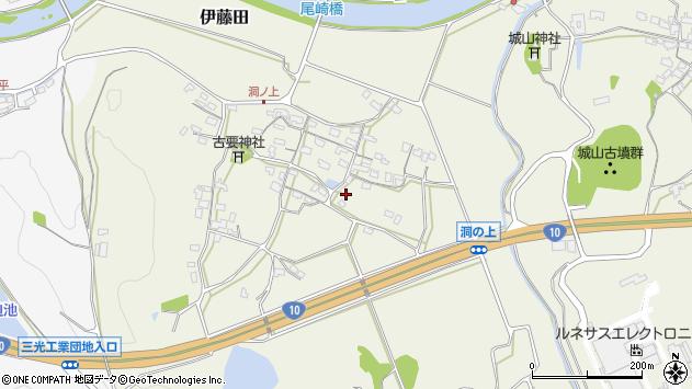 大分県中津市伊藤田130周辺の地図