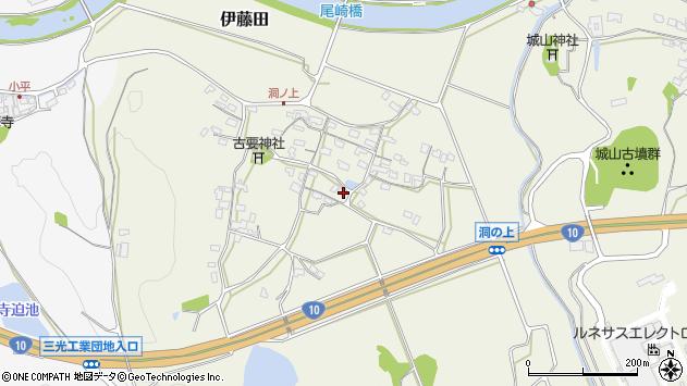 大分県中津市伊藤田205周辺の地図