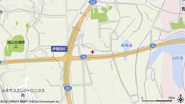 大分県中津市伊藤田1553周辺の地図