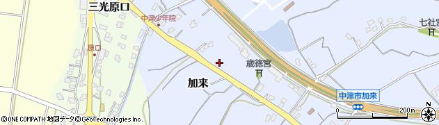 大分県中津市加来2115周辺の地図