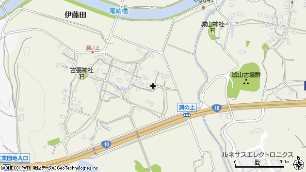 大分県中津市伊藤田151周辺の地図