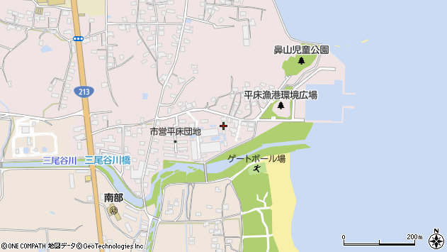 大分県国東市国東町鶴川957周辺の地図