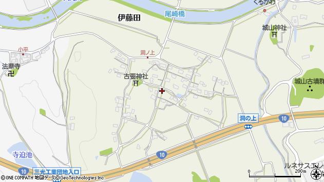 大分県中津市伊藤田208周辺の地図
