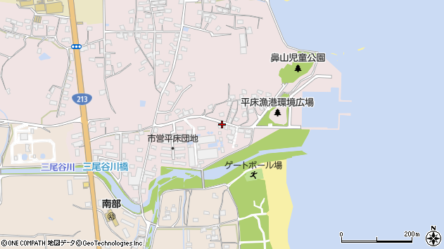 大分県国東市国東町鶴川964周辺の地図