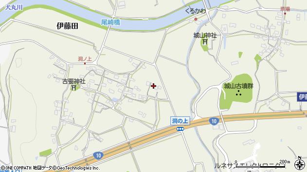 大分県中津市伊藤田156周辺の地図