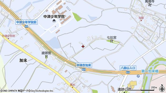 大分県中津市加来1322周辺の地図