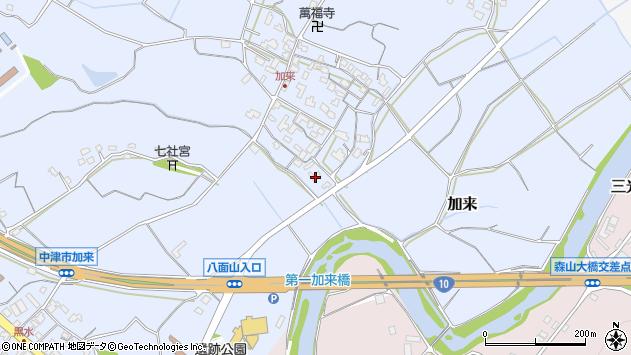 大分県中津市加来727周辺の地図