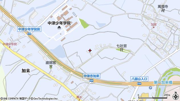 大分県中津市加来1321周辺の地図
