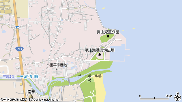 大分県国東市国東町鶴川931周辺の地図