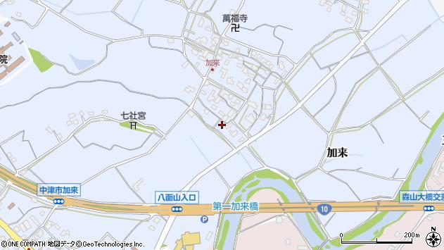 大分県中津市加来725周辺の地図
