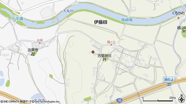 大分県中津市伊藤田259周辺の地図