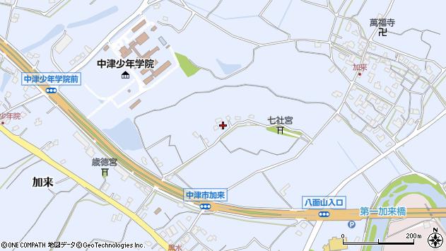 大分県中津市加来1317周辺の地図