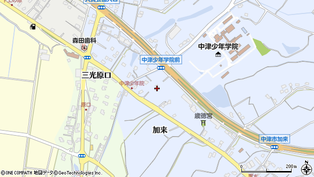 大分県中津市加来2131周辺の地図