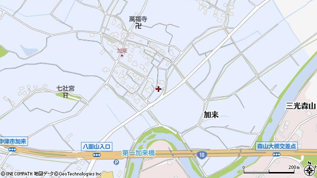 大分県中津市加来672周辺の地図