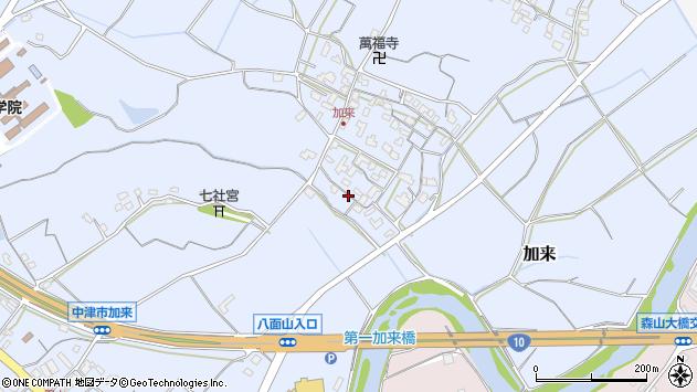 大分県中津市加来724周辺の地図