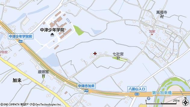 大分県中津市加来1316周辺の地図