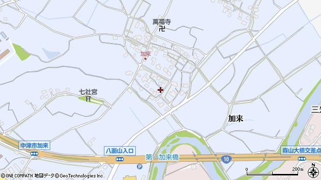 大分県中津市加来712周辺の地図