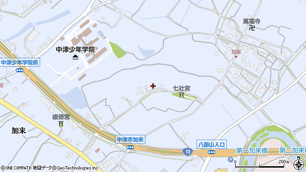 大分県中津市加来1266周辺の地図