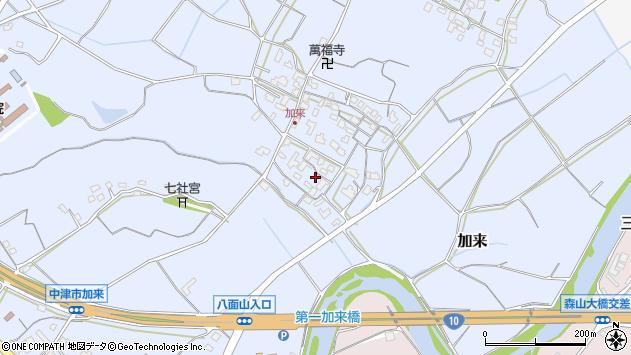 大分県中津市加来710周辺の地図