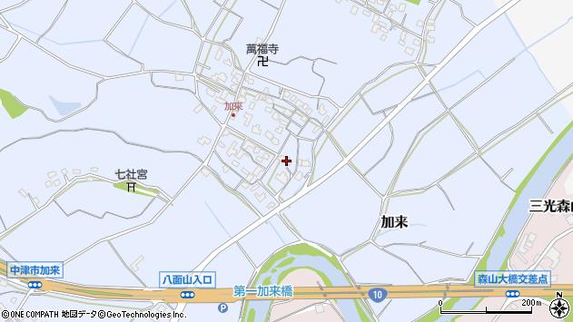 大分県中津市加来679周辺の地図