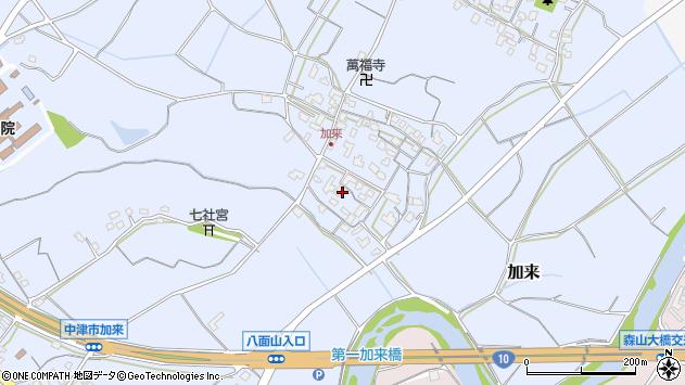 大分県中津市加来709周辺の地図