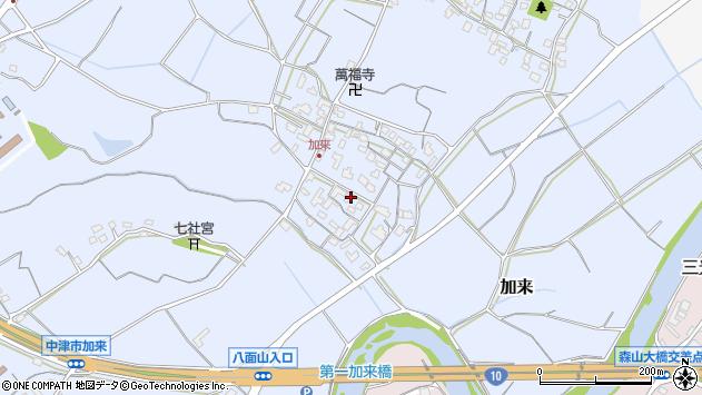 大分県中津市加来708周辺の地図