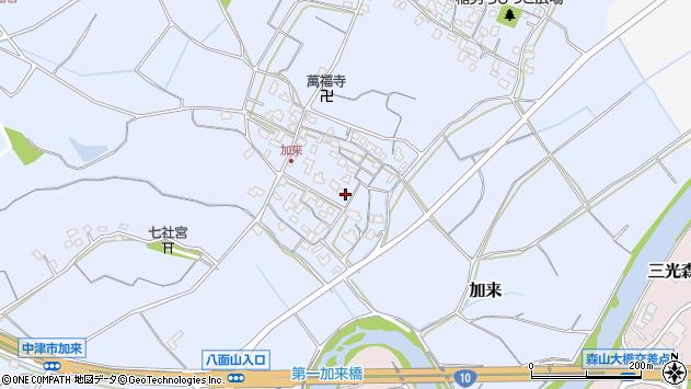大分県中津市加来681周辺の地図