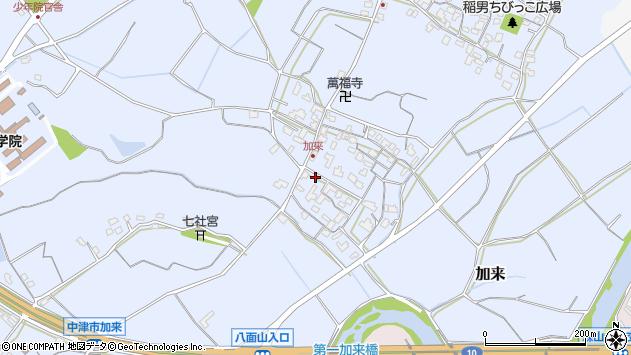 大分県中津市加来702周辺の地図
