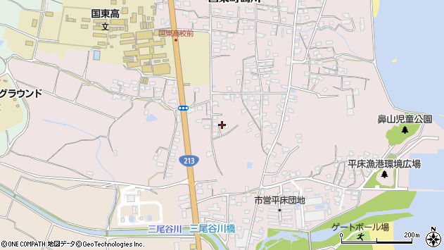 大分県国東市国東町鶴川1510周辺の地図