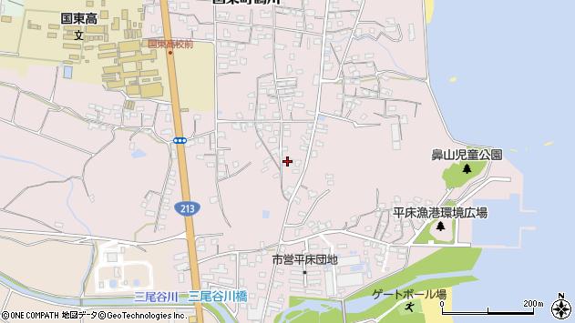 大分県国東市国東町鶴川1140周辺の地図