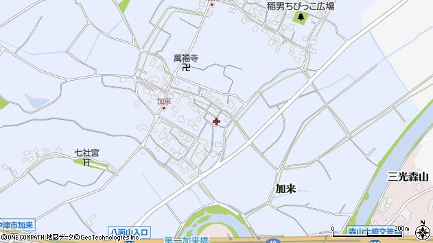 大分県中津市加来664周辺の地図