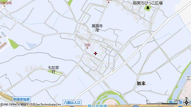 大分県中津市加来687周辺の地図