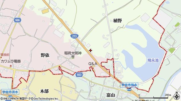 大分県中津市植野531周辺の地図
