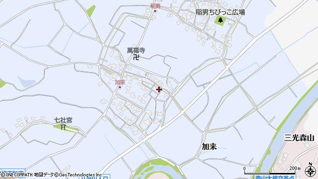 大分県中津市加来659周辺の地図