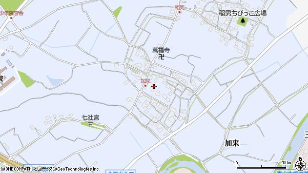大分県中津市加来699周辺の地図