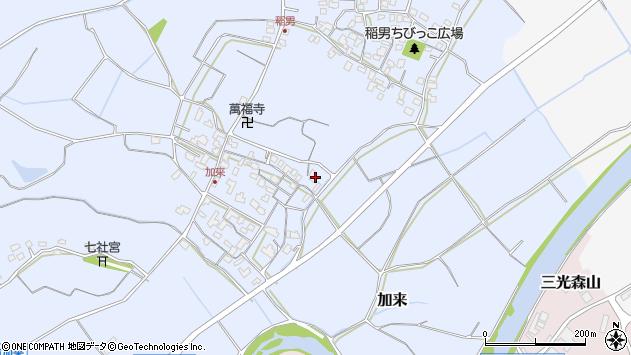 大分県中津市加来662周辺の地図